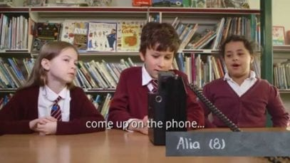 Vodafone UK: Kids review 1980s mobile phones