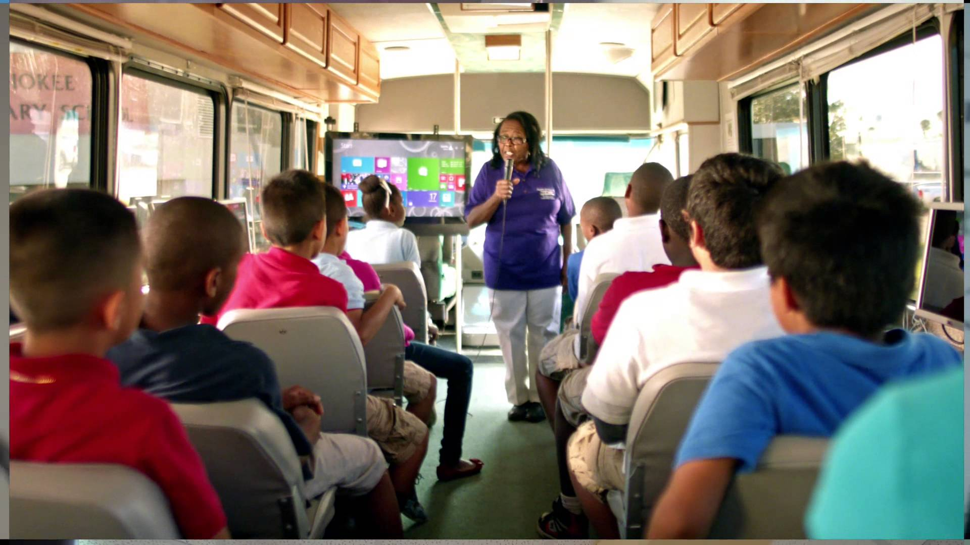Microsoft:  Estella's Brilliant Bus – Super Bowl Commercial