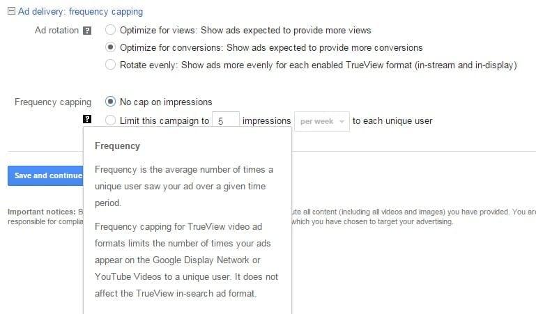 youtube ads settings