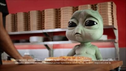 Pizza Hut: Homesick Alien and a Severely Injured Man