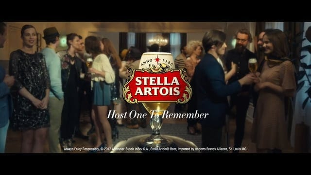 stella artois party trick daily commercials. Black Bedroom Furniture Sets. Home Design Ideas