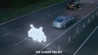 Space Invader Tailgating campaign TV commercial Highways England