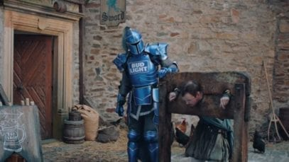 Bud Knight Dilly Dilly commercial