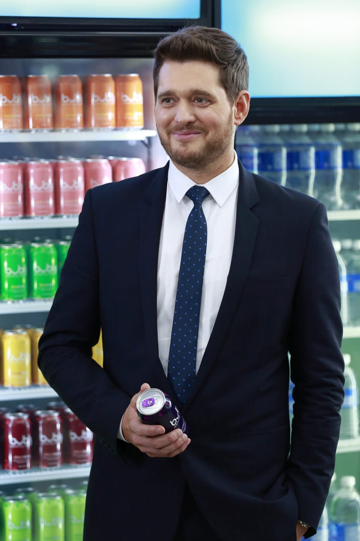 Michael Bublé appears in a Pepsi Bubly commercial November 28, 2018 in Vancouver, British Columbia, Canada.