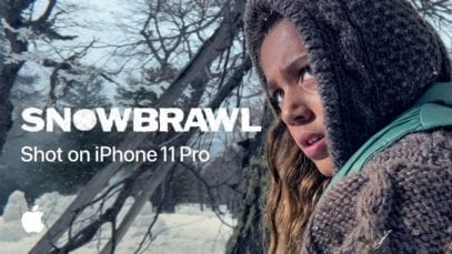 snowball fight with Apple iPhone 11 Pro