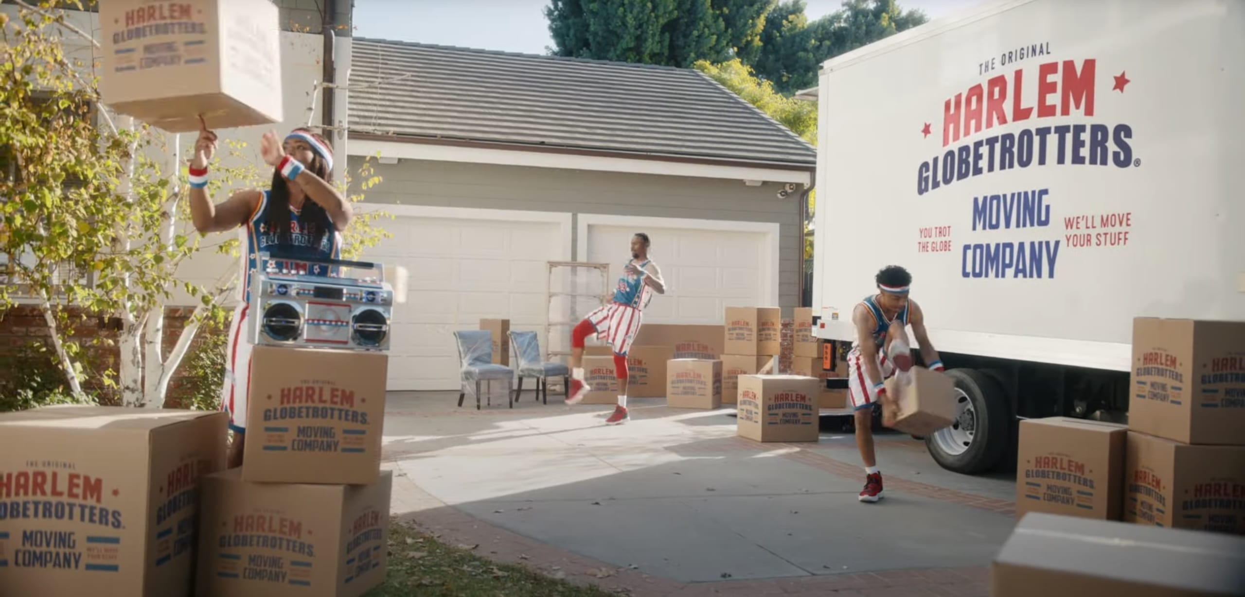geico funny advert Harlem Globetrotters