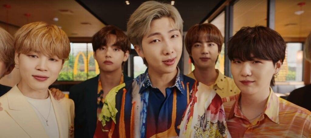 The BTS Meal advert McDonalds