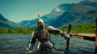 Knight in river
